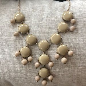 Bubble necklace in taupe